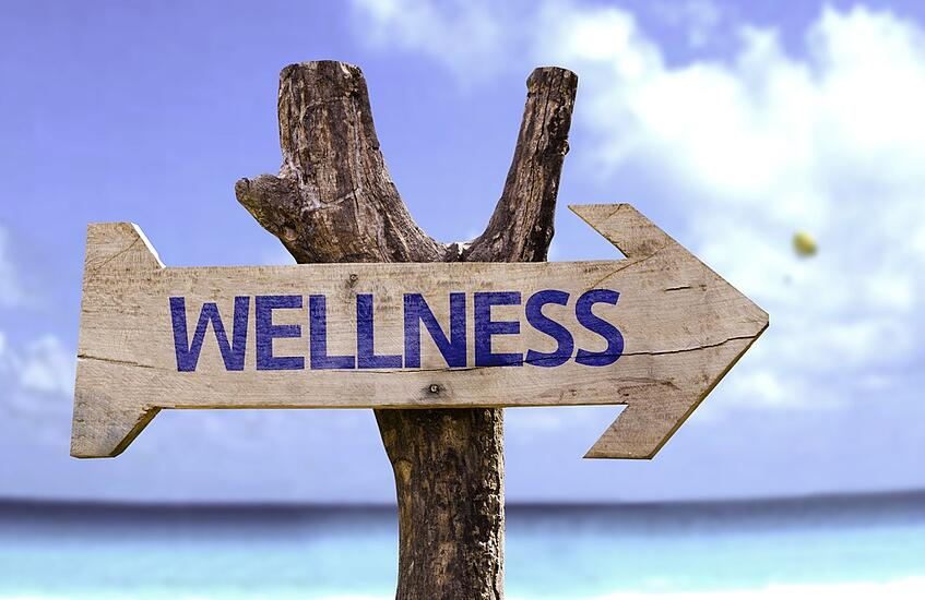Wellness wooden sign with a beach on background .jpeg
